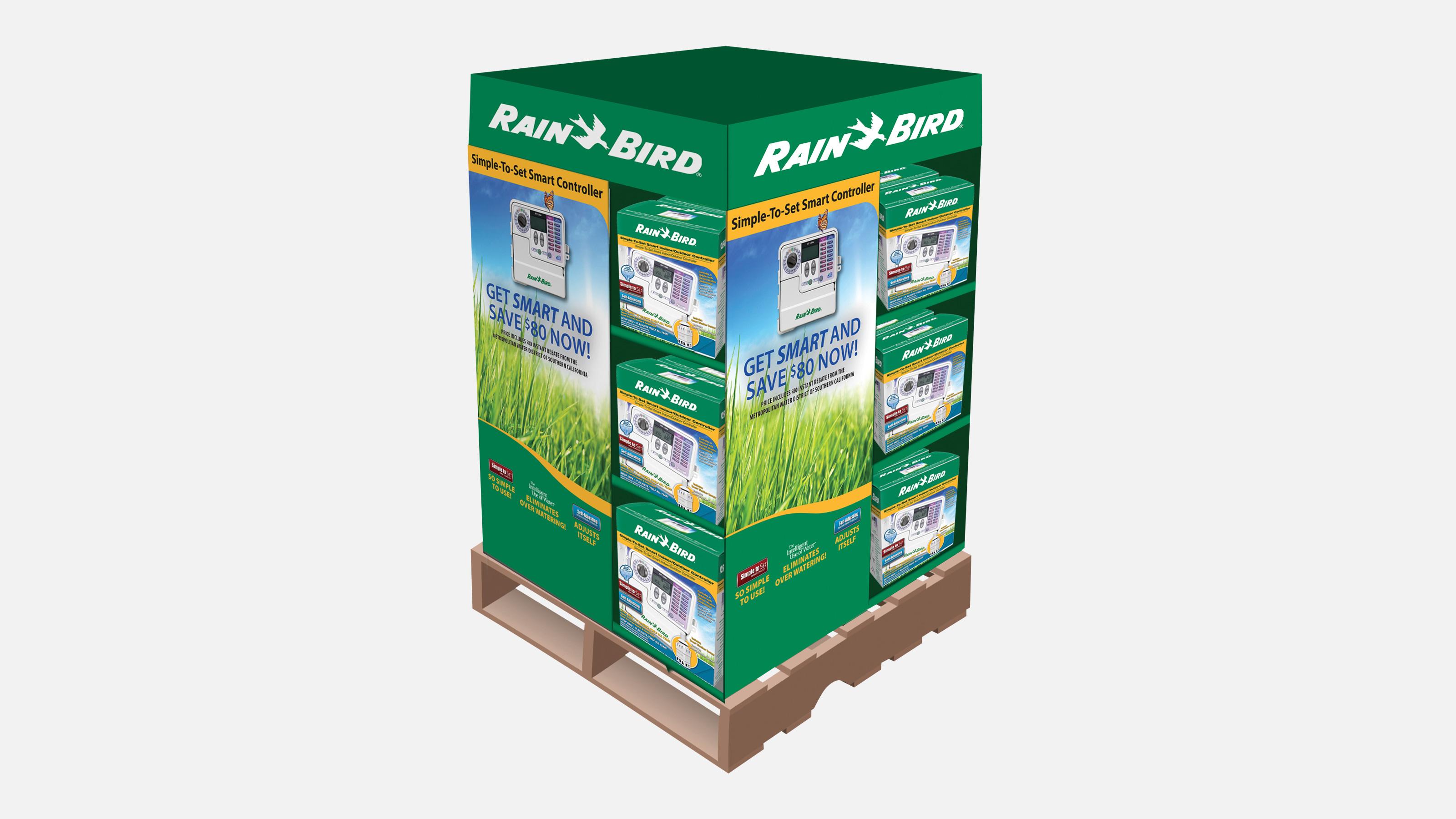 RAIN Bird Bulk Packaging on pallet