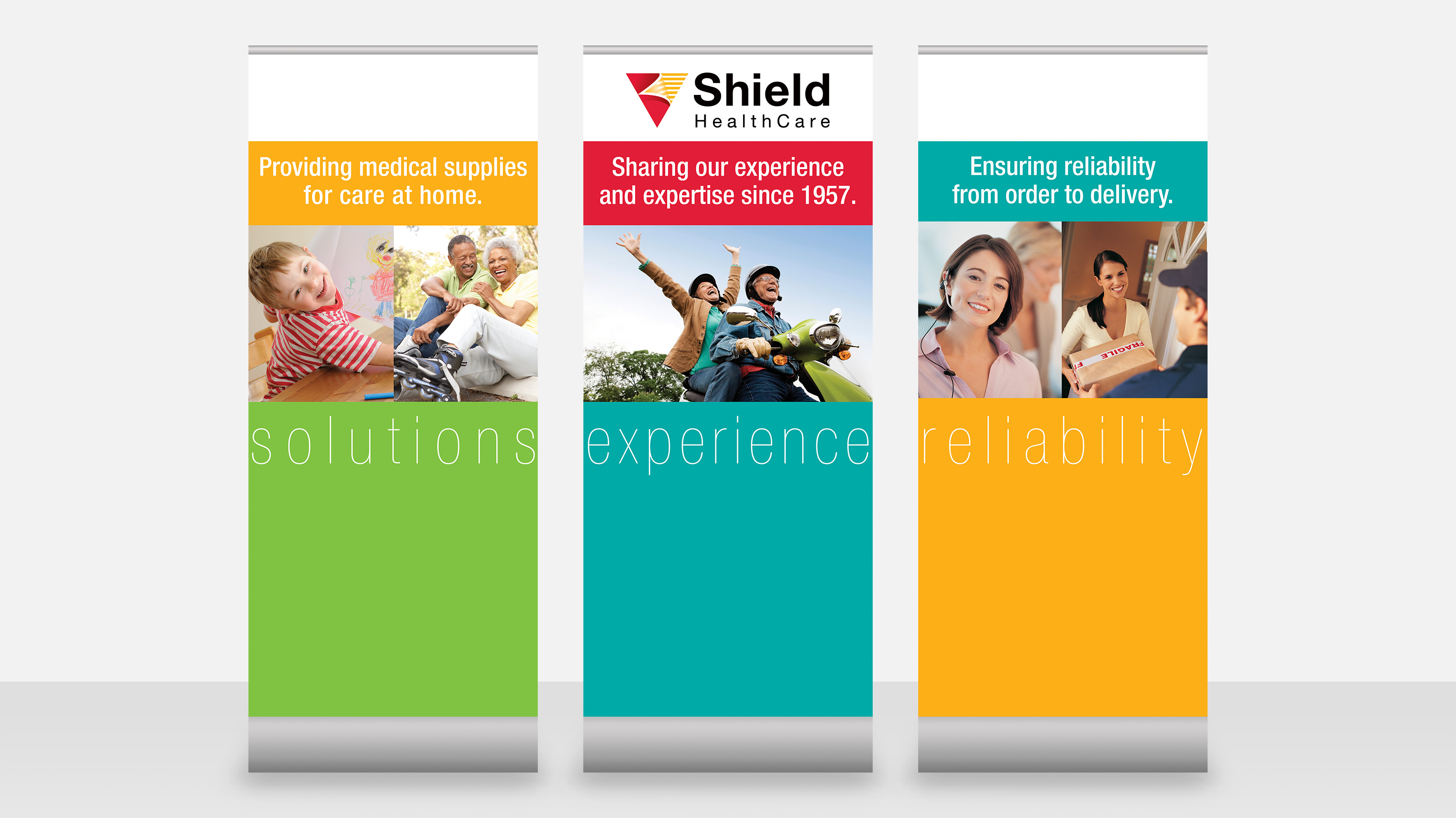 shield healthcare tradeshow banners